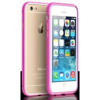 Металлический бампер с золотой окантовкой и отверстиями для улучшенного приема сигнала для Iphone 6 Розовый