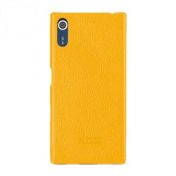 Кожаный чехол накладка (премиум нат. кожа) для Sony Xperia XZ/XZs