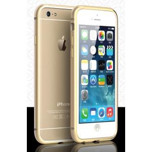 Металлический бампер с золотой окантовкой и отверстиями для улучшенного приема сигнала для Iphone 6 Бежевый