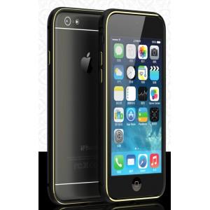 Металлический бампер с золотой окантовкой и отверстиями для улучшенного приема сигнала для Iphone 6