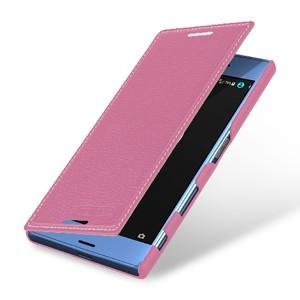 Кожаный чехол горизонтальная книжка (премиум нат. кожа) для Sony Xperia XZ/XZs