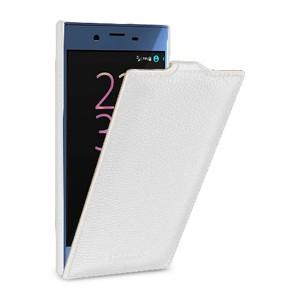 Кожаный чехол вертикальная книжка (премиум нат. кожа) для Sony Xperia XZ/XZs