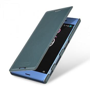 Кожаный чехол горизонтальная книжка (премиум нат. винтажная кожа) для Sony Xperia XZ/XZs