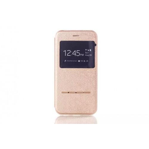Чехол флип подставка текстурный с окном вызова и свайп-полосой для Iphone 6 Plus