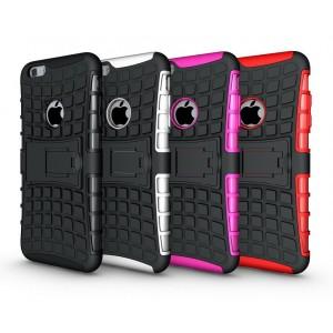 Чехол экстрим защита силикон-пластик для Iphone 6