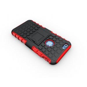 Чехол экстрим защита силикон-пластик для Iphone 6 Красный
