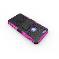 Чехол экстрим защита силикон-пластик для Iphone 6 Розовый