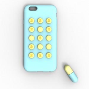 Силиконовый чехол серия Fifteen Pills для Iphone 6 Голубой
