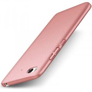 Пластиковый непрозрачный матовый чехол Металлик с улучшенной защитой элементов корпуса и повышенной шероховатостью для Xiaomi Mi5S Розовый