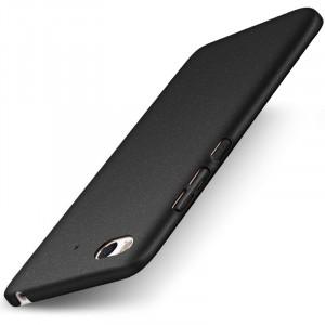 Пластиковый непрозрачный матовый чехол Металлик с улучшенной защитой элементов корпуса и повышенной шероховатостью для Xiaomi Mi5S Черный