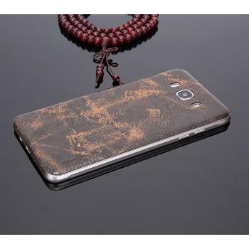 Экстратонкая клеевая кожаная накладка для Samsung Galaxy J7