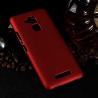 Пластиковый непрозрачный матовый чехол для Asus ZenFone 3 Max Красный
