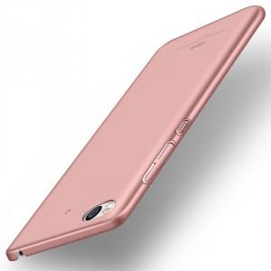 Пластиковый непрозрачный матовый чехол с улучшенной защитой элементов корпуса для Xiaomi Mi5S Розовый