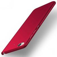 Пластиковый непрозрачный матовый чехол с улучшенной защитой элементов корпуса для Xiaomi Mi5S Красный
