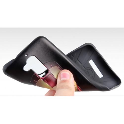 Силиконовый матовый непрозрачный чехол с рельефным принтом для Asus ZenFone 3 Max