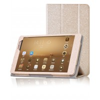 Текстурный чехол подставка с рамочной защитой для Huawei MediaPad M2 8.0 Бежевый