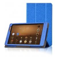 Текстурный чехол подставка с рамочной защитой для Huawei MediaPad M2 8.0 Синий