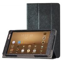 Текстурный чехол подставка с рамочной защитой для Huawei MediaPad M2 8.0 Черный
