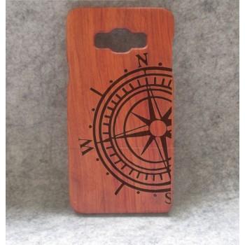 Натуральный деревянный чехол сборного типа с лазерным принтом для Samsung Galaxy A7
