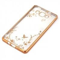 Силиконовый матовый полупрозрачный чехол с принтом для Samsung Galaxy A7