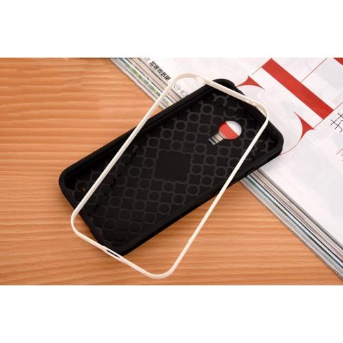 Двухкомпонентный силиконовый матовый непрозрачный чехол с поликарбонатным бампером и принтом для Meizu MX5