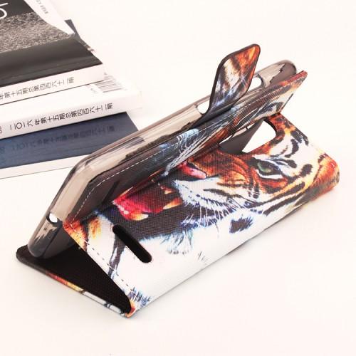 Чехол горизонтальная книжка подставка на силиконовой основе с отсеком для карт и полноповерхностным принтом на магнитной защелке для Lenovo K6/K6 Power