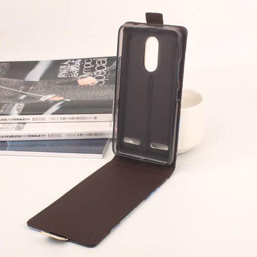 Чехол вертикальная книжка на силиконовой основе с полноповерхностным принтом на магнитной защелке для Lenovo K6/K6 Power
