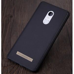 Пластиковый непрозрачный матовый чехол с улучшенной защитой элементов корпуса и экрана для Xiaomi RedMi Note 3 Черный