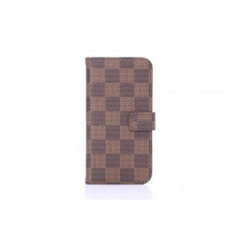 Чехол портмоне подставка в стиле Fashion для Iphone 6 Коричневый