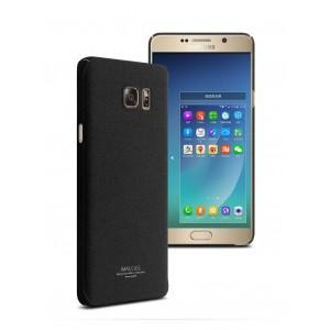 Пластиковый матовый чехол с повышенной шероховатостью для Samsung Galaxy Note 5 Черный