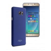 Пластиковый матовый чехол с повышенной шероховатостью для Samsung Galaxy Note 5 Синий