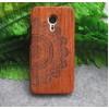 Натуральный деревянный чехол сборного типа с лазерным принтом для Meizu MX5