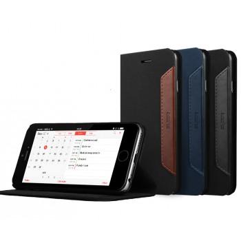 Чехол флип подставка с кожаной прошивкой для Iphone 6