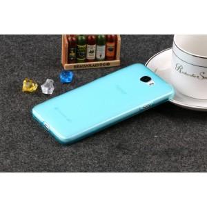 Силиконовый матовый полупрозрачный чехол для Huawei Honor 5A/Y5 II Голубой