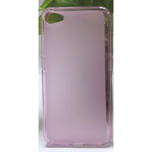 Силиконовый матовый полупрозрачный чехол для Meizu U10 Розовый
