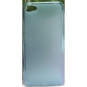 Силиконовый матовый полупрозрачный чехол для Meizu U10 Голубой