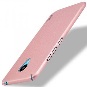 Пластиковый непрозрачный матовый чехол с улучшенной защитой элементов корпуса для Meizu M3s Mini Розовый
