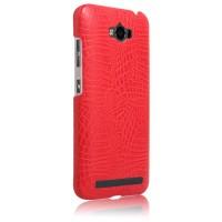 Чехол накладка текстурная отделка Кожа для ASUS ZenFone Max Красный
