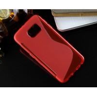 Силиконовый S чехол для Samsung Galaxy S6 Красный