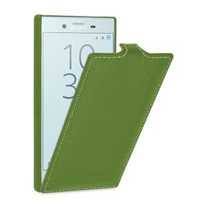 Кожаный чехол вертикальная книжка (премиум нат. кожа) (с защелкой) для Sony Xperia X Compact