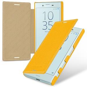 Кожаный чехол горизонтальная книжка (премиум нат. кожа) для Sony Xperia X Compact