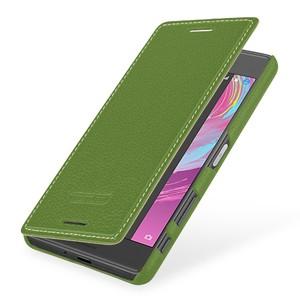 Кожаный чехол горизонтальная книжка (премиум нат. кожа) для Sony Xperia X Performance