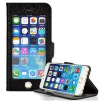 Кожаный чехол-подставка с полноценным окном для дисплея на Iphone 6