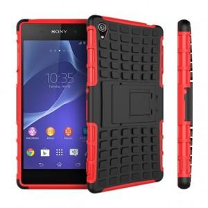 Силиконовый чехол экстрим защита для Sony Xperia Z3 Красный