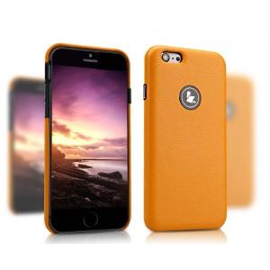 Кожаный чехол накладка серия Back Cover для Iphone 6 Оранжевый