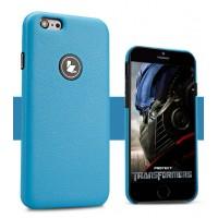 Кожаный чехол накладка серия Back Cover для Iphone 6 Синий