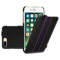Кожаный чехол вертикальная книжка (2 вида премиум нат. кожи) с крепежной застежкой для Iphone 7 Plus/8 Plus