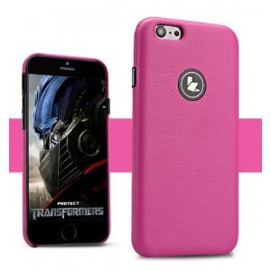 Кожаный чехол накладка серия Back Cover для Iphone 6 Розовый