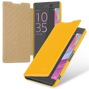 Кожаный чехол горизонтальная книжка (премиум нат. кожа) для Sony Xperia XA Ultra