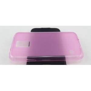 Силиконовый матовый чехол для Samsung Galaxy S5 Розовый